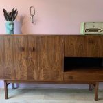 Dutch Design Highboard palissander vintage dressoir